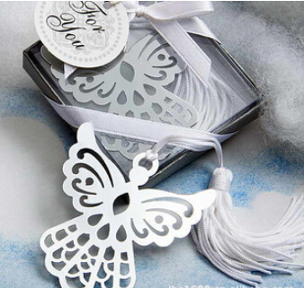 10pcs/lot Fashion angel design bookmark with tassels wedding favor creative party gift for guest free shipping(China (Mainland))