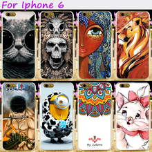 Hard Plastic&Soft TPU Silicones Phone Cover For Apple iPhone 6 6G iphone6 4.7inch Cases Cool Skull Loving Minions Accessories