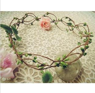 Handmade wedding Bridal Hair Accessory, Party Woman Berry cane Wreath Fashion Girls headband crown(China (Mainland))