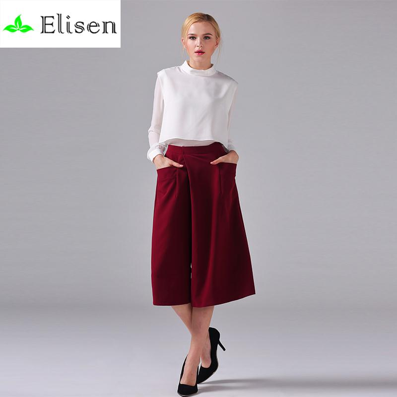 Office Ladies Twinset 2016 Summer Full Sleeve White Zip Loose New Blouse + Wine High-end  Wide Leg Pants Beautiful Career SetsОдежда и ак�е��уары<br><br><br>Aliexpress