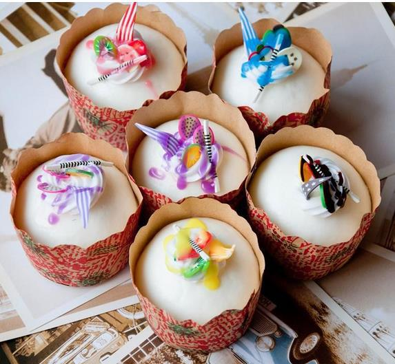 (25PCS LOT)colorful squisies 5cm(S)round Cups cake pudding soft squishy Environmentally Holiday gift mix color(China (Mainland))