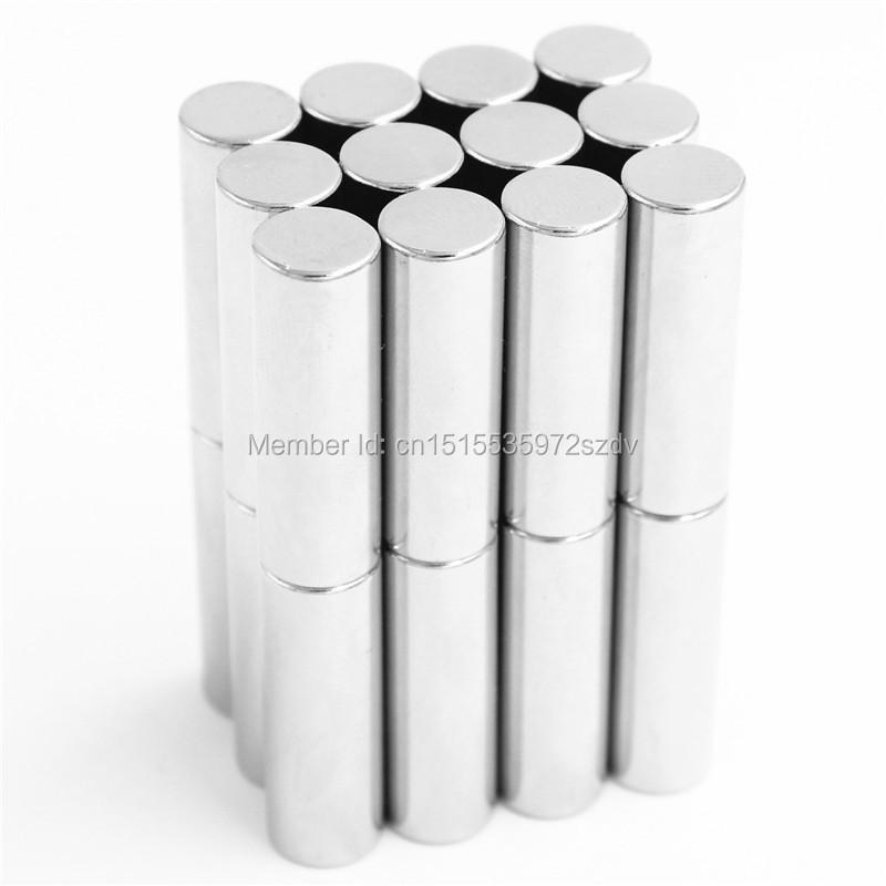 50pcs Strong Round Dia  10mm x 30mm N35 Rare Earth Neodymium Magnet Art Craft Fridge free shipping<br>
