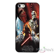 Star Wars Force Awakens Art Kylo Ren back skins mobile cellphone cases for iphone 4/4s 5/5s 5c SE 6/6s plus ipod touch 4/5/6