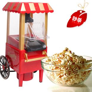 1Pcs+Lot+DIY mini carriage shape nostalgic hot air popcorn machine poper pop corn maker with EU plug red color 220v~230v(China (Mainland))