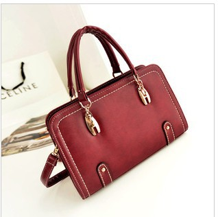 2014 High Quality women's fashionable Vintage Style Handbag Wine Red Shaping Shoulder Bag(China (Mainland))