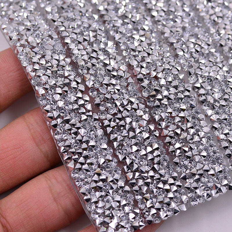 3mm Clear Resin Rhinestones Mesh Trim Strass Chain Crystal Banding Bridal Beaded Applique In Roll Jewelry Wedding Dress Crafts(China (Mainland))