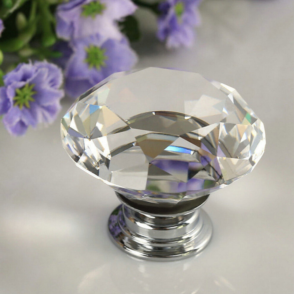 Best Quality Crystal Glass Door Knob Furniture Kitchen Drawer Cabinet Handle new arrival(China (Mainland))