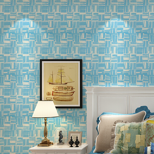 Online kopen wholesale vlakte blauw behang uit china vlakte blauw behang groothandel - Moderne woonkamer behang ...