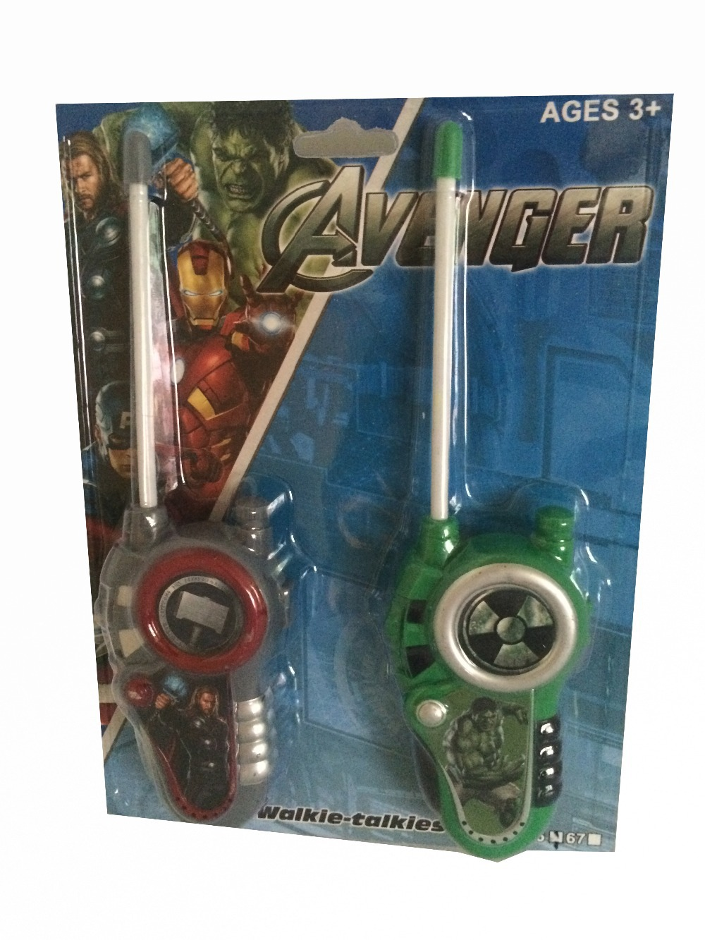 Brand New Kids Children Avenger Walkie Talkie Toys Two Pieces Set(China (Mainland))