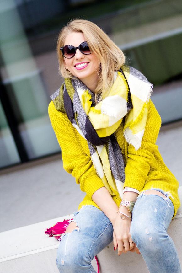 Women Shawl Cozy black mixed yellow black Blanket Oversized font b Tartan b font Scarf Wrap
