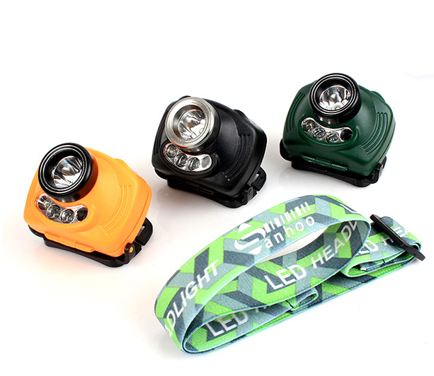 Bright 240Lm Inductive Headlight 3 Mode CREE R2 +2 Red LED Infrared Sensors Headlamp Lamp Light Weight SOS Torch Camping Fishing(China (Mainland))