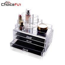 CHOICEFUN Acrylic makeup organizer storage box cosmetic organizador de maquiagem makeup storage drawers SF-1303(China (Mainland))