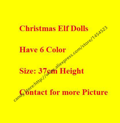 DHL 10pcs the Elf boy girl Christmas Plush Shelf Toy 6 color Gifts for Kids Cute Dolls Present on New Year/Xmas/Party/Birthday(China (Mainland))