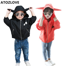 2-5Y children coat boy girl jacket pokemon pikachu hoody spring autumn fashion child outerwear cartoon monster hoodie