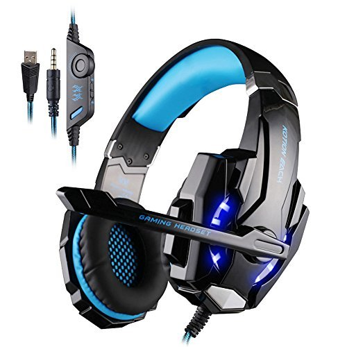 Original Gaming Headset for PlayStation 4 PS4 Tablet PC iPhone Samsung 3.5mm Headphone with Stereo HiFi Bass Microphone LED(China (Mainland))
