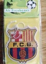 12pce Team logo car air freshener Clean air Fan favorite Suitable for kitchen, bathroom, car, etc.Football air freshener(China (Mainland))