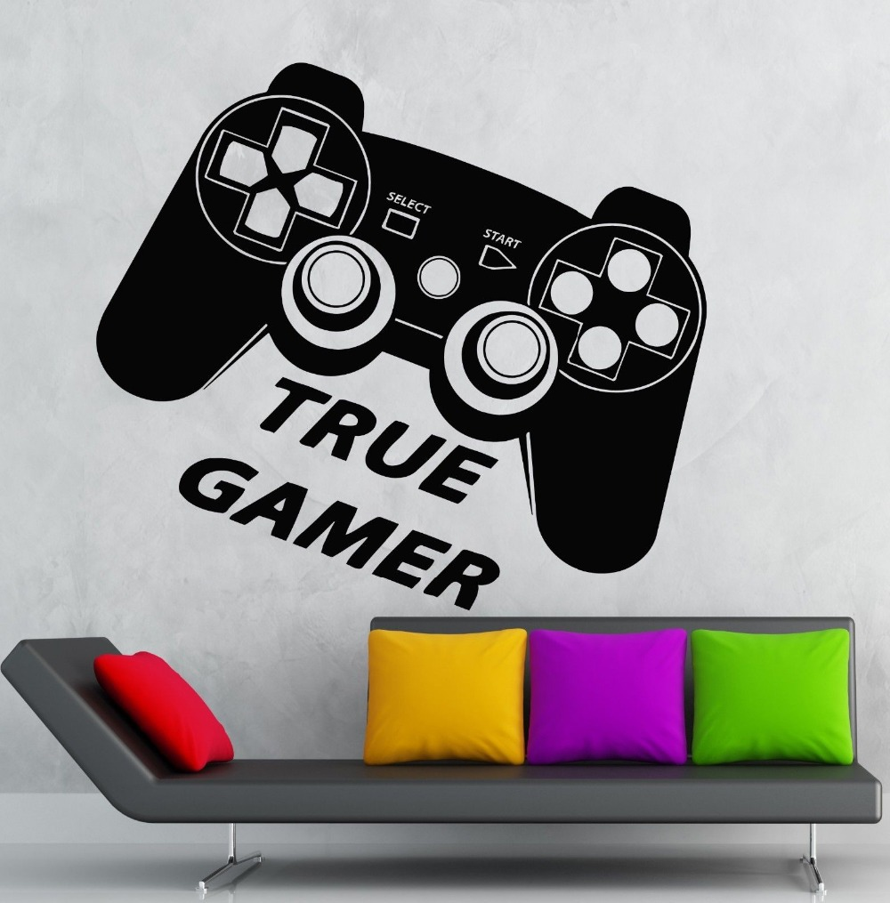 Boys Game Room Vinyl Wall Decal True Gamer Game Room Play