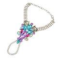 3 Colors Fashion Women Finger Bracelet Pulseras Silver Bohemian Gypsy Beach Charm Handle Gem Crystal Hand