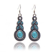 Turquoise-Style-Vintage-Earrings-Metal-Rhinestone-Infinity-Drop-Earring-Fashion-Statement-Jewelry-For-Women-2014-Christmas