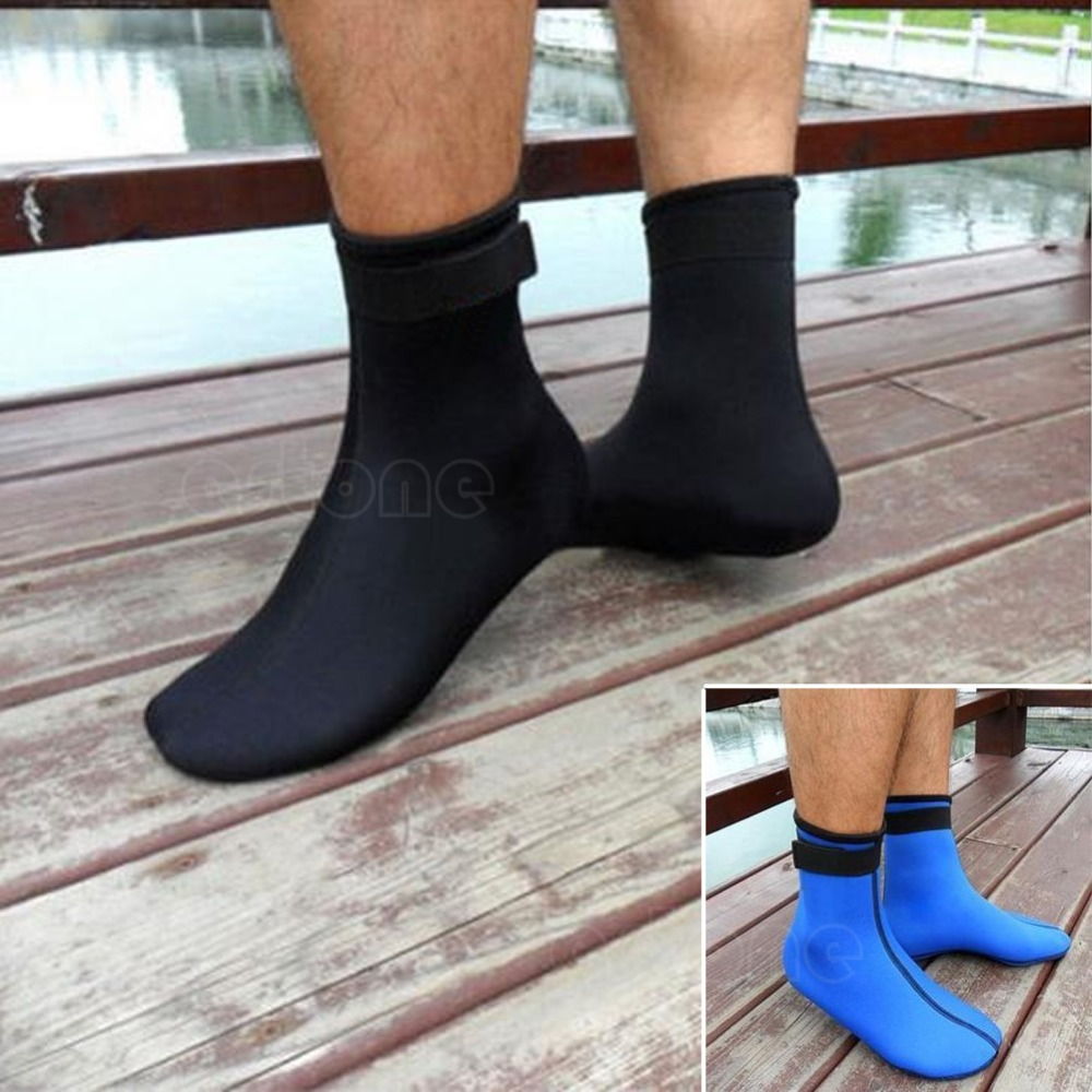 Free Shipping 3MM Neoprene Diving Scuba Surfing Swimming Socks Water Sports Snorkeling Boots(China (Mainland))