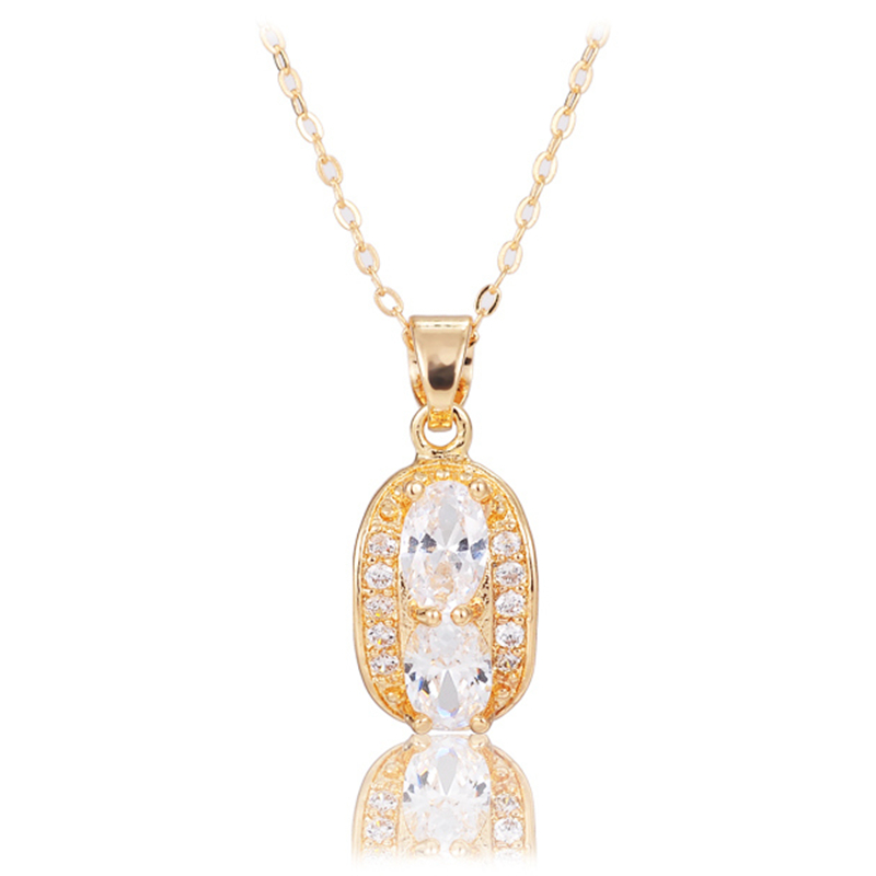 2016 new arrival high quality luxury high fashion handmade aaa cubic zircon water wave necklace chain gold plated(China (Mainland))