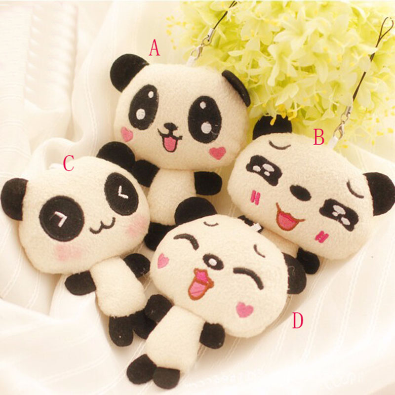 1PC 12cm Kawaii Lover Couple Valentine's Day Gift Novelty Mascot Doll Toy Plush Papa bear Panda Pendant For Mobile Phone Charm(China (Mainland))