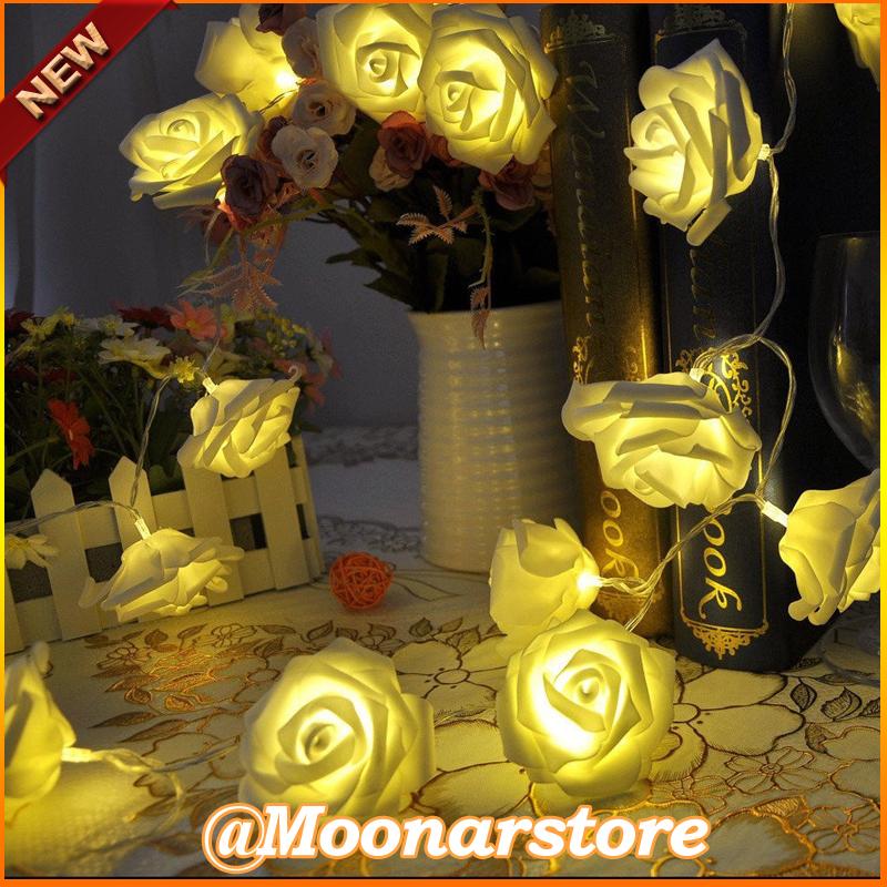 Fashion Holiday Lighting 20 x LED Novelty Rose Flower Fairy String Lights Wedding Garden Party Christmas Decoration FY30MHM700(China (Mainland))