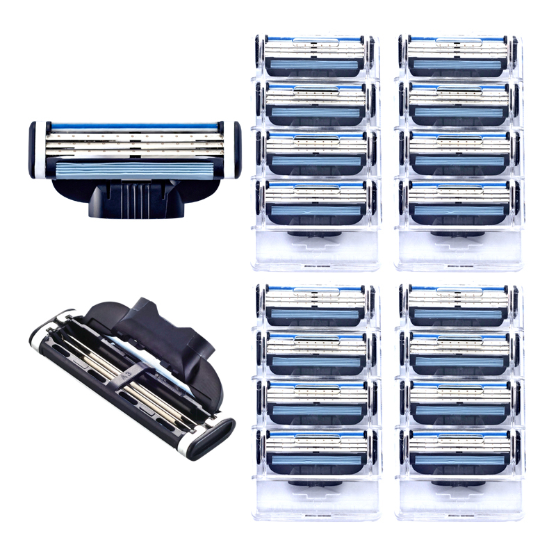 16pcs/set Shave Razor High Quality Men's Razor Blades Shaver Blades Shaving Blades For Gilete Mach 3 Standard for RU&Eu US(China (Mainland))