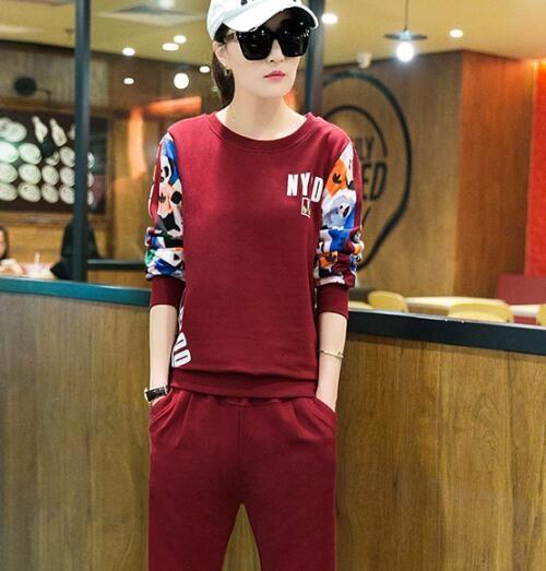 Survetement 2016 Hoodies Women Casual Sweatshirt + Pants Fashion Cheap Tracksuit Women Plus Size 3XL Pink Two Piece Set