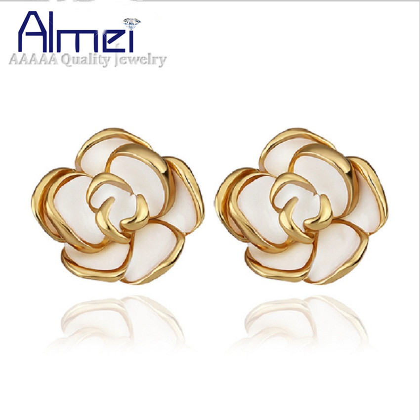 Buy almei flower earrings studs charms for Gemsprouts tiny plant jewelry