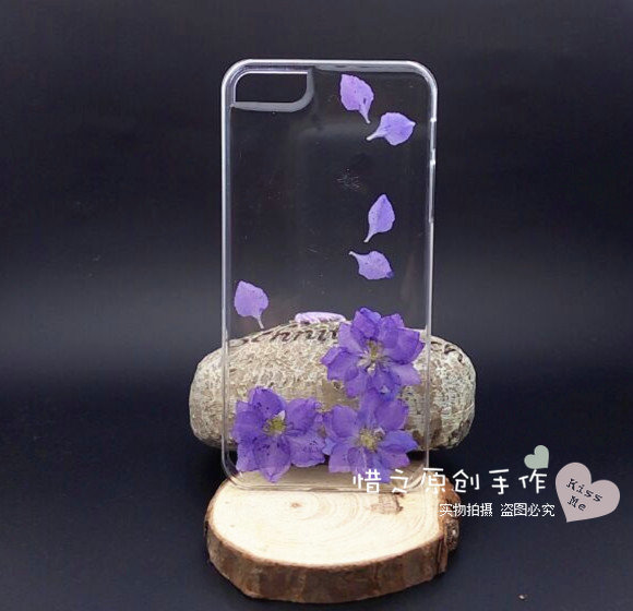Natural plant handmade plastic preserved fresh flower protective case petals phone case for iphone natural real flowers(China (Mainland))