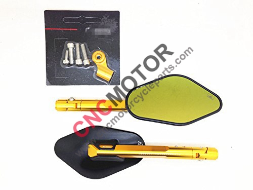 Фотография Motorcycle CNC Billet Mirrors 1 Pair for Universal Motocycles M8 8mm Gold