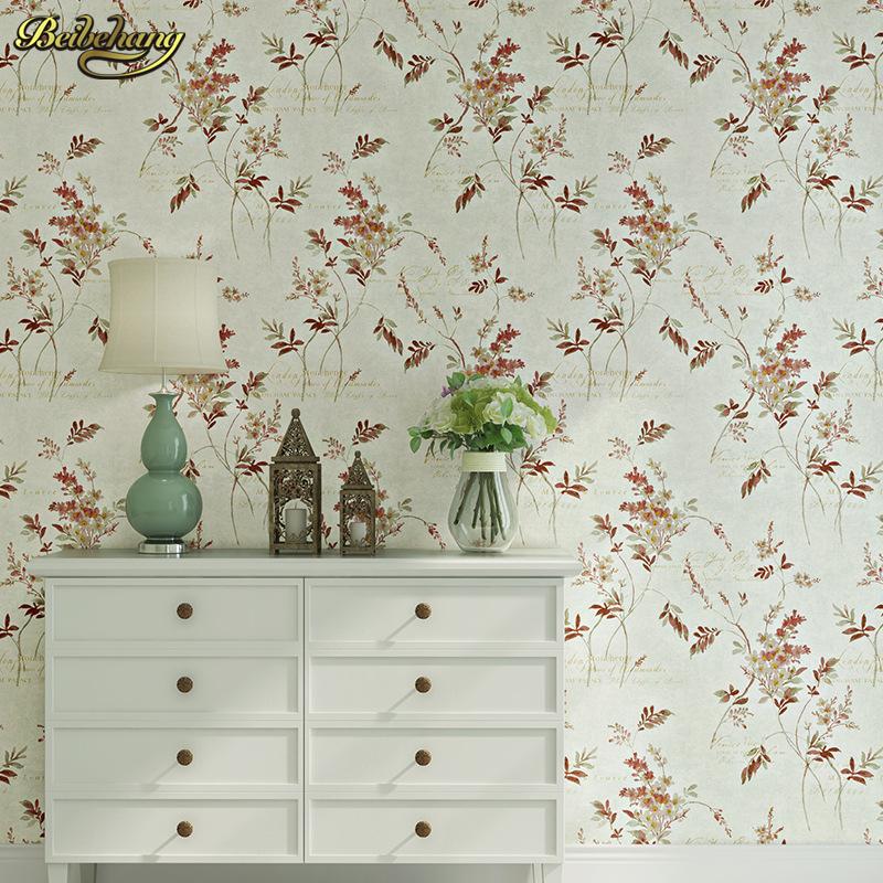 achetez en gros petites fleurs papier peint en ligne des grossistes petites fleurs papier. Black Bedroom Furniture Sets. Home Design Ideas