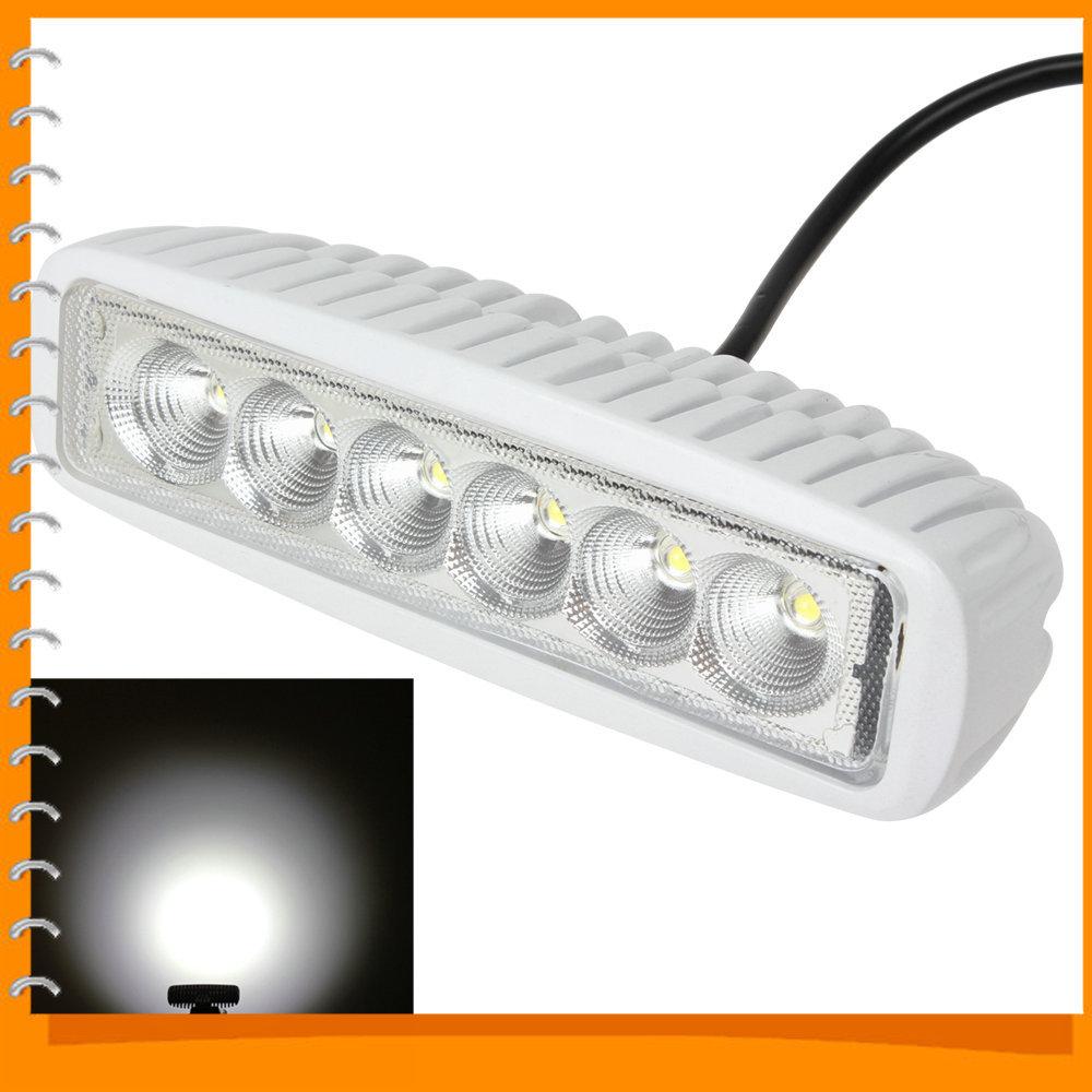 6 Inch 12V/24V 1550LM 18W Waterproof LED Light Bar Flood / Spot Light Car Work Light for Truck Trailer SUV ATV OffRoad(China (Mainland))