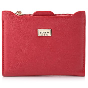 New Women Red Wallet Zipper PU Leather Coin Card Purses Credit Card Holders Purse Female Purse Mini Wallets Clutch Thin Wallets