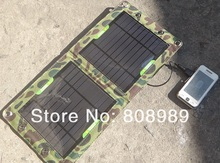 HOT! 7W Solar Charger For Mobile Phone Solar Panel Charger Foldable USB Battery Charger Wallet/Bag 4pcs/lot  NEW Free Shipping(China (Mainland))