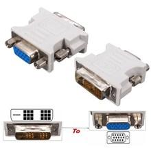 DVI-D 18+1Pin Male to HD 15 Pin VGA SVGA Female Video Card Monitor LCD Converter Adapter(China (Mainland))
