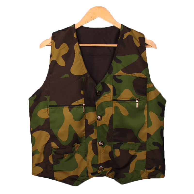 2015 Autumn New Outdoor Tactical Camouflage Men Casual Sport Outdoor Vests Classic Windproof Waistcoat Sleeveless Jacket(China (Mainland))