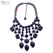 2014 Z design wholesale fashion necklace Europe costume chunky crystal choker tassel bib pendant  Necklace statement jewelry