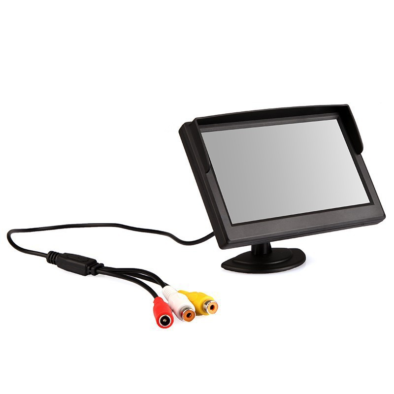 K917 5 inch Digital Color TFT 16:9 LCD Car Reverse Auto Monitor 2 Bracket Holder Rearview Camera DVD VCR Multi-language Russian - Genesis century electronic store