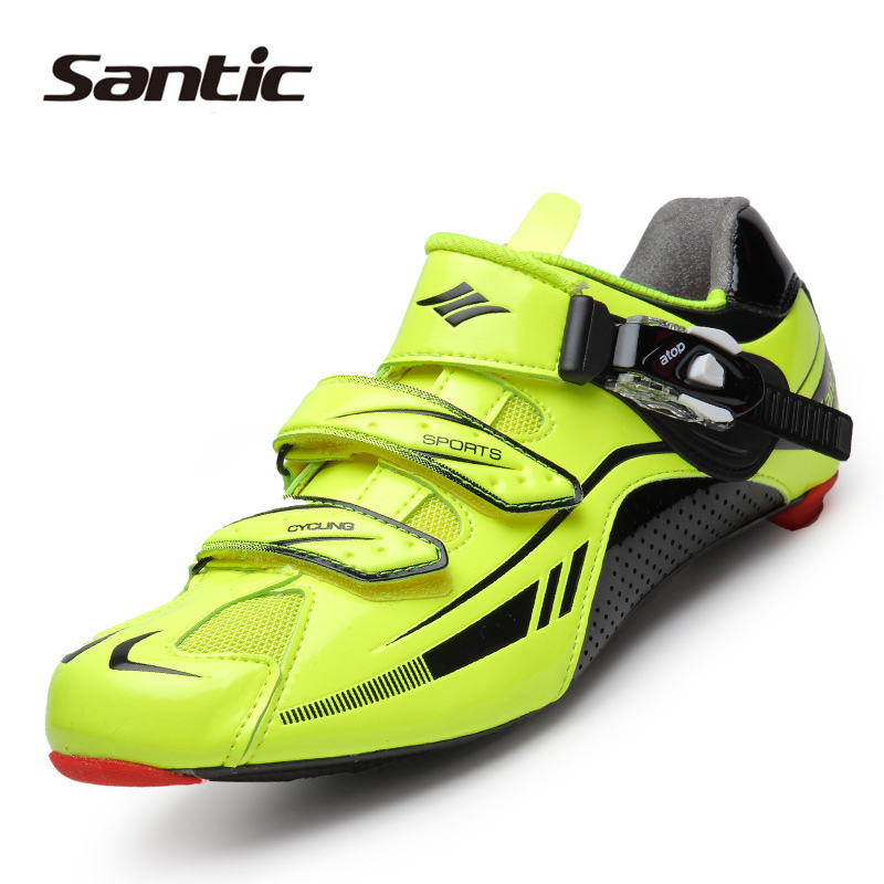 SANTIC Men Lightweight Carbon Fiber Soles Professional Outdoor Bicycle Racing <font><b>Cycling</b></font> <font><b>Shoes</b></font> Road Bike Self-Locking Athletic <font><b>Shoe</b></font>