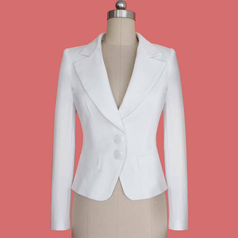 Vfemage 2015 женщин осень зима с длинным рукавом отложным воротником кнопка носить на работу бизнес офис верхней одежды пиджак блейзер 1359