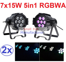 Buy 2xLot Sales 2016 Led Par Light 7X15W RGBWA 5in1 100W DJ Disco DMX Stage Lights Par Can Led Effect Club Party Lighting Free Ship for $142.12 in AliExpress store