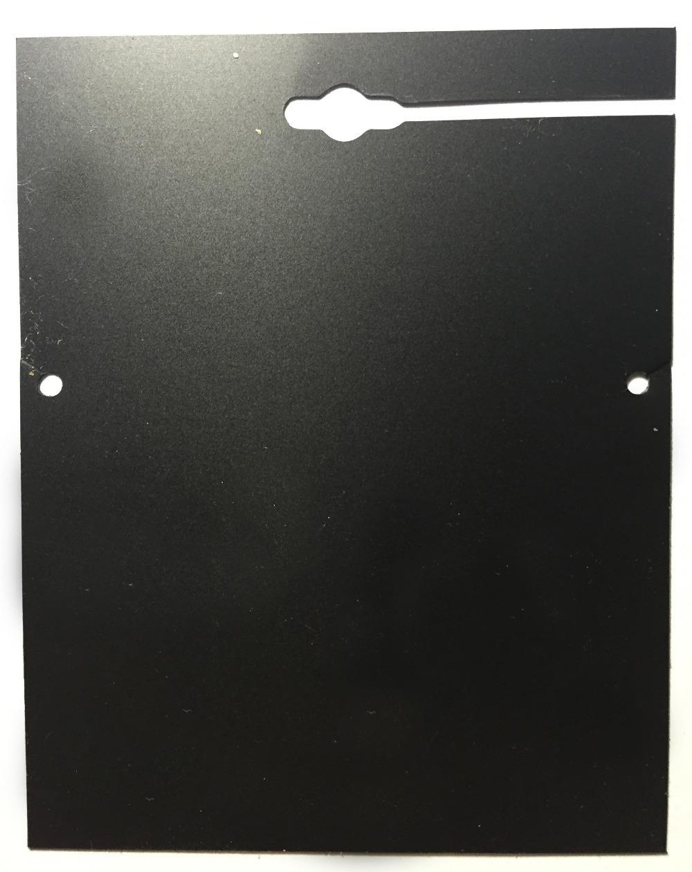8.5x11.6cm 2000pec/lot Custom Logo Black Personalized Jewlery Card Plastic Necklace Display Card Display Wholesale JC#0069(China (Mainland))