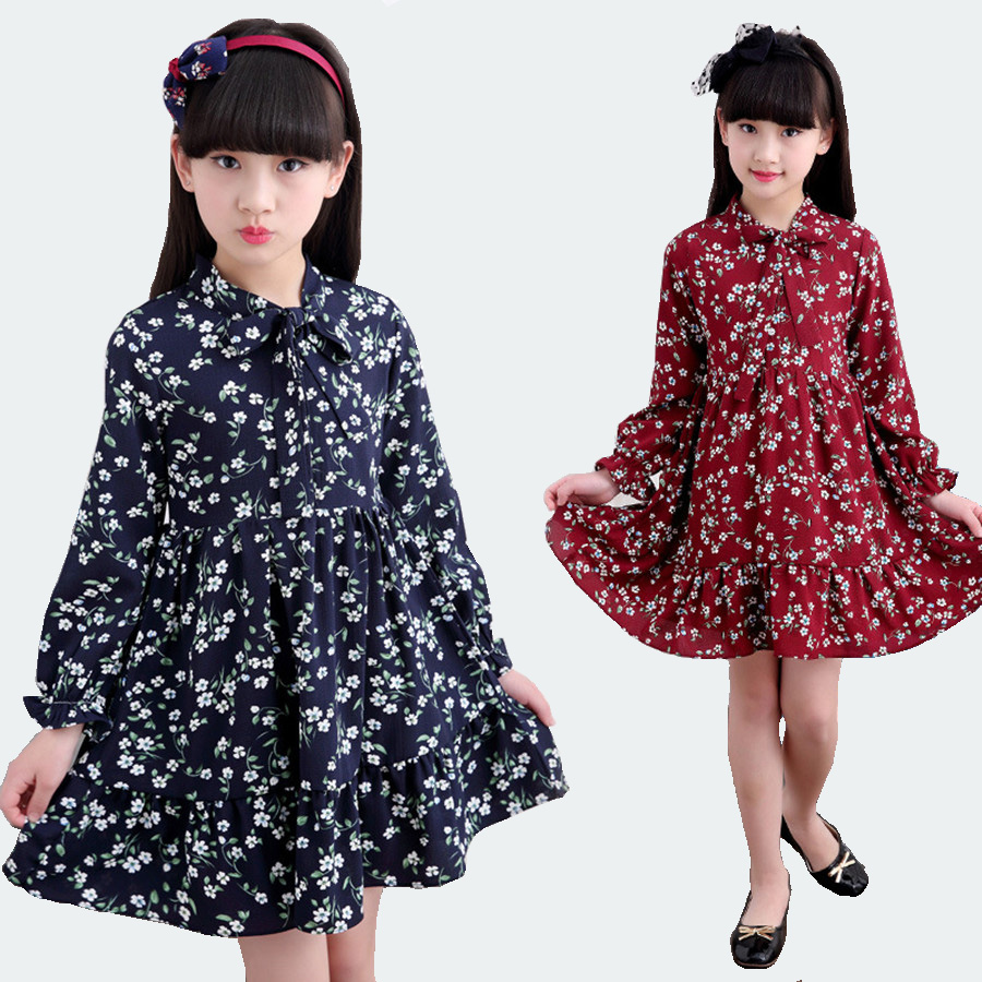 Beautiful crochet dresses for kids trendy - Children Dress Spring Nice Long Sleeve Cotton Chiffon Evening Dresses Kids Vintage Beautiful Girls Dress With