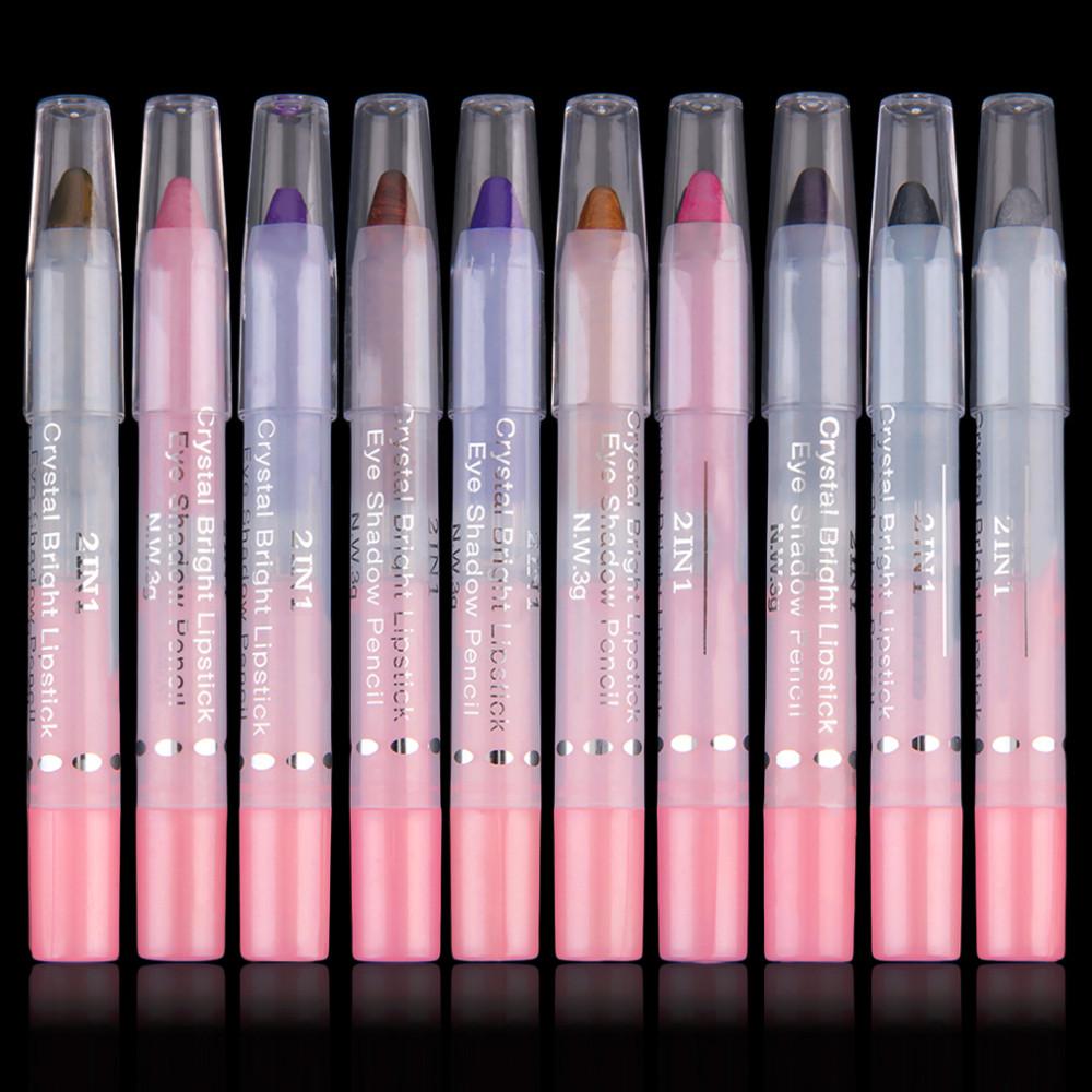 Mulheres 20 Cores 11.5 cm Eye Make Up Lápis Delineador À Prova D' Água 2EM1 sobrancelha Beleza Pen Eye Liner Lip varas Cosméticos Olhos maquiagem