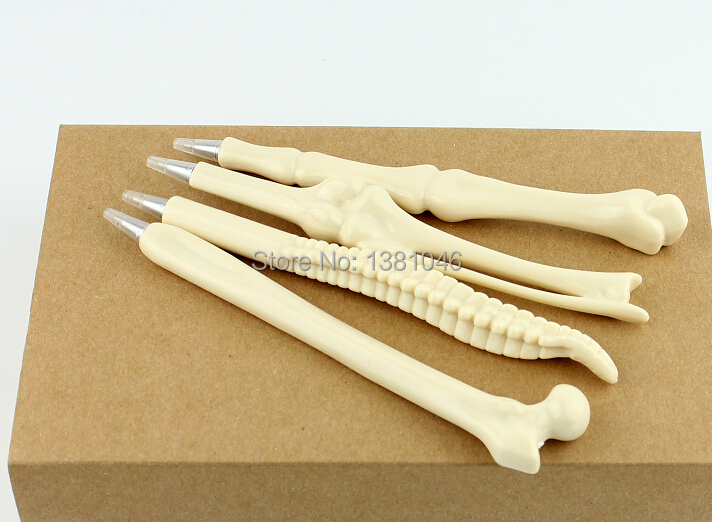 Novelty Bone Pens 4 types Nurses Doctors Radiographers Orthopods Black Ink(China (Mainland))