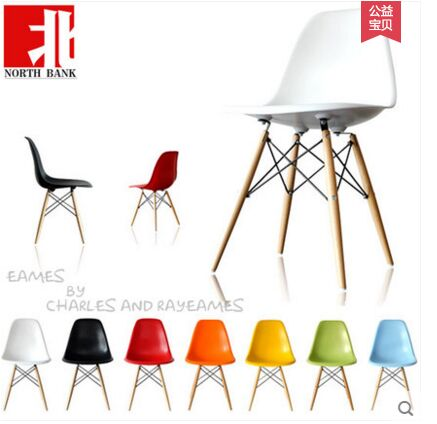 2016 Best Selling Plastic Casual Dining Chair Negotiating Fashion Creative Brief Furniture Beech Wood Foot(China (Mainland))