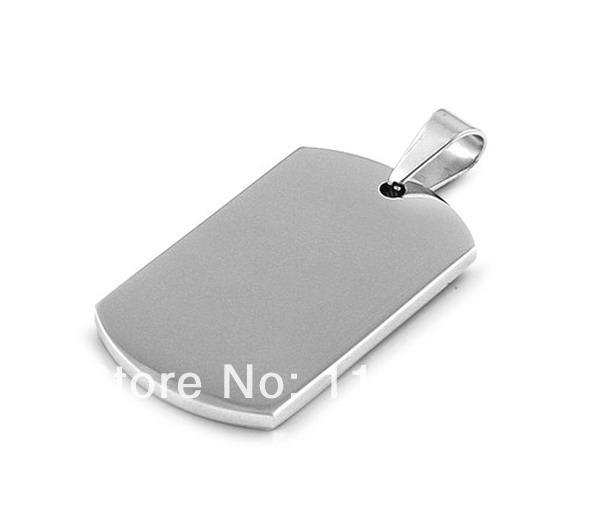 Wholesale 50pcs Double High Polished Stainelss Steel Blank Military Pet Dog Tag Pendant,Free Shipping(China (Mainland))