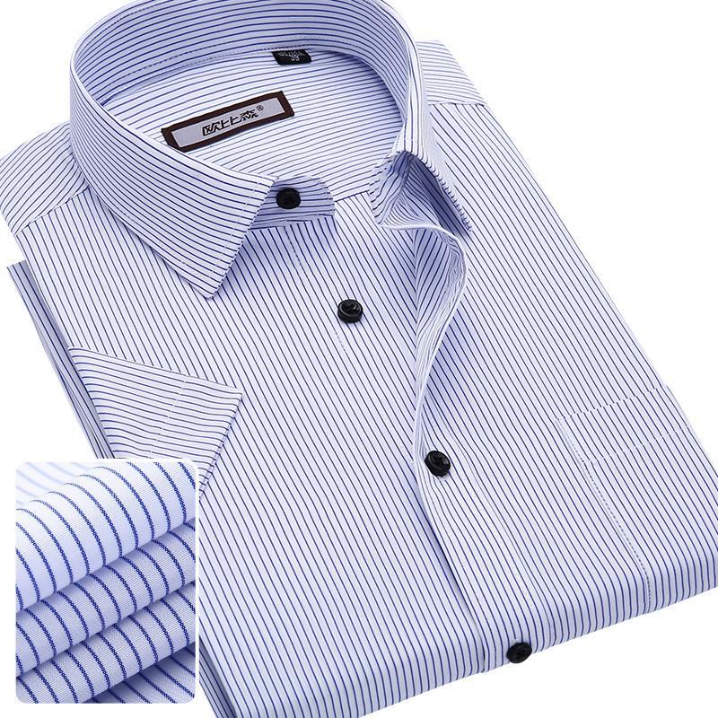2015 summer male casual short-sleeve shirt slim formal business shirt short-sleeve tooling service(China (Mainland))